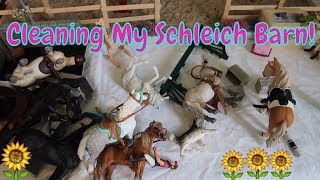 🐎Cleaning My Schleich Horse Barn!🐴 Organize My Schleich Horses & Stable With Me!🐎 FIRST DAY TV