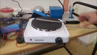 How a bimetallic thermostat works!