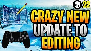 These Changes To Editing/Editing Sensitivity Are WILD... (Fortnite New Update 7.20)