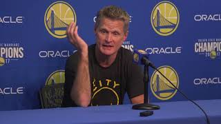 Steve Kerr sees both sides of Jordan Bell dunk debate
