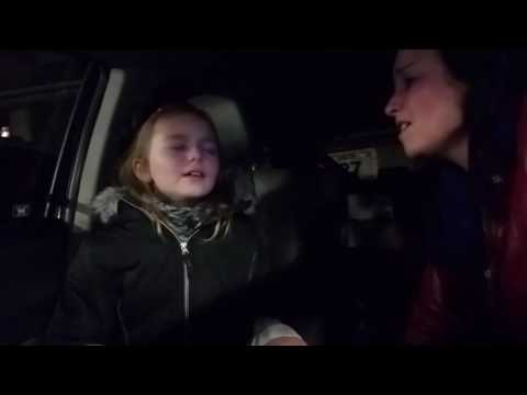 My daughter singing Cole Swindell 's In the Middle of a Memory before she sees him in concert