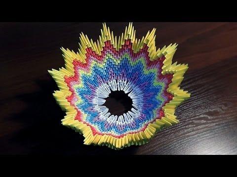 Модульное оригами конфетница