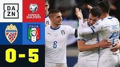 Grifo-Assist und Belotti-Doppelpack: Liechtenstein - Italien 0:5 | EM-Quali | DAZN Highlights