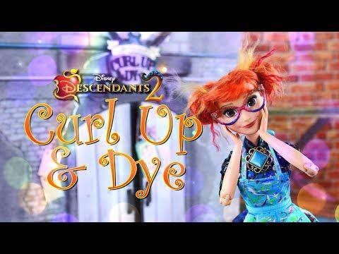 DIY - How To Make: Curl Up & Dye Salon | Disney Descendants 2 Dollhouse
