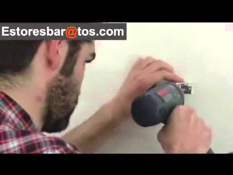 Como instalar una persiana veneciana de aluminio a pared o - Persiana veneciana de aluminio ...