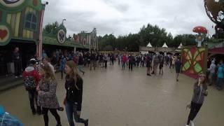 Tomorrowland 2015 Merch Store in the Rain
