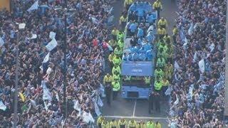 Manchester City celebrate Premier League win with open top bus tour