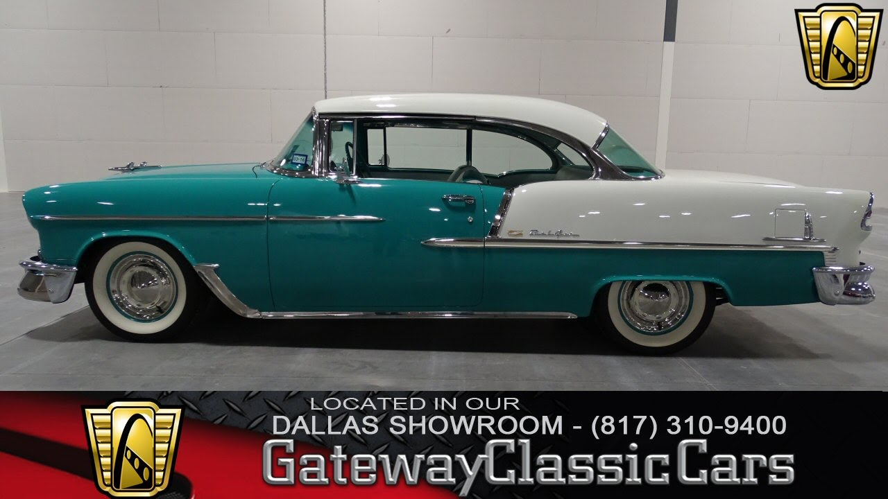 1955 Chevrolet Bel Air Gateway Classic Cars Dallas #34 - YouTube