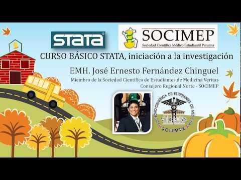 Minicurso Básico de STATA, iniciación a la investigación