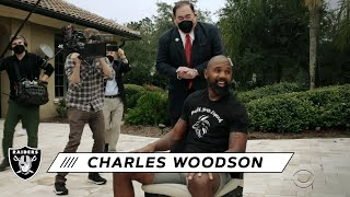 Charles Woodson Finds Out He's a Hall of Famer | Las Vegas Raiders