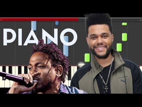 The Weeknd Kendrick Lamar Pray for me Piano Midi Black Panther  Sheet app Cover Karaoke