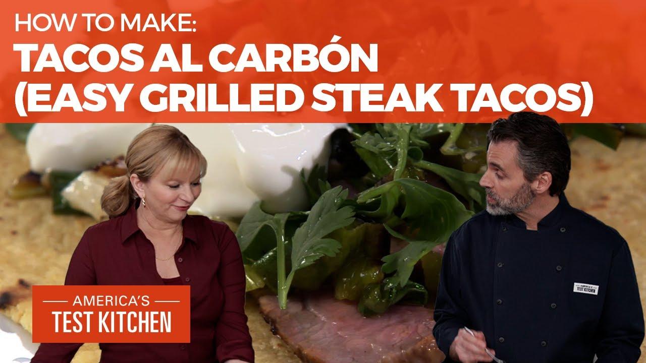 How to Make Tacos al Carbón (Grilled Steak Tacos)