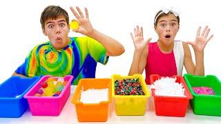 Nastya dan Artem mengajarkan permainan angka mendidik keluarga untuk anak anak