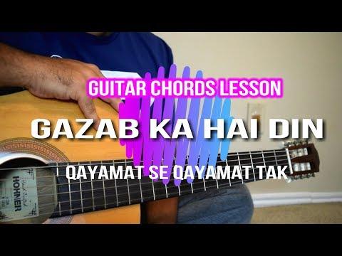 Gazab Ka Hai Din | Qayamat Se Qayamat Tak | Guitar Cover Lesson