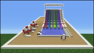 Minecraft Tutorial: How To Make A Water Slide (Mini Water Park)