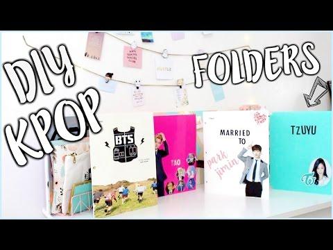 DIY KPOP School Supplies (Folders) PT.2   OnlyKelly