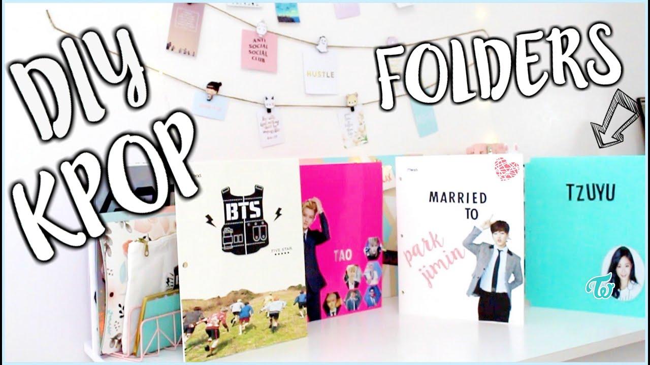 DIY KPOP School Supplies (Folders) PT.2 | OnlyKelly - YouTube
