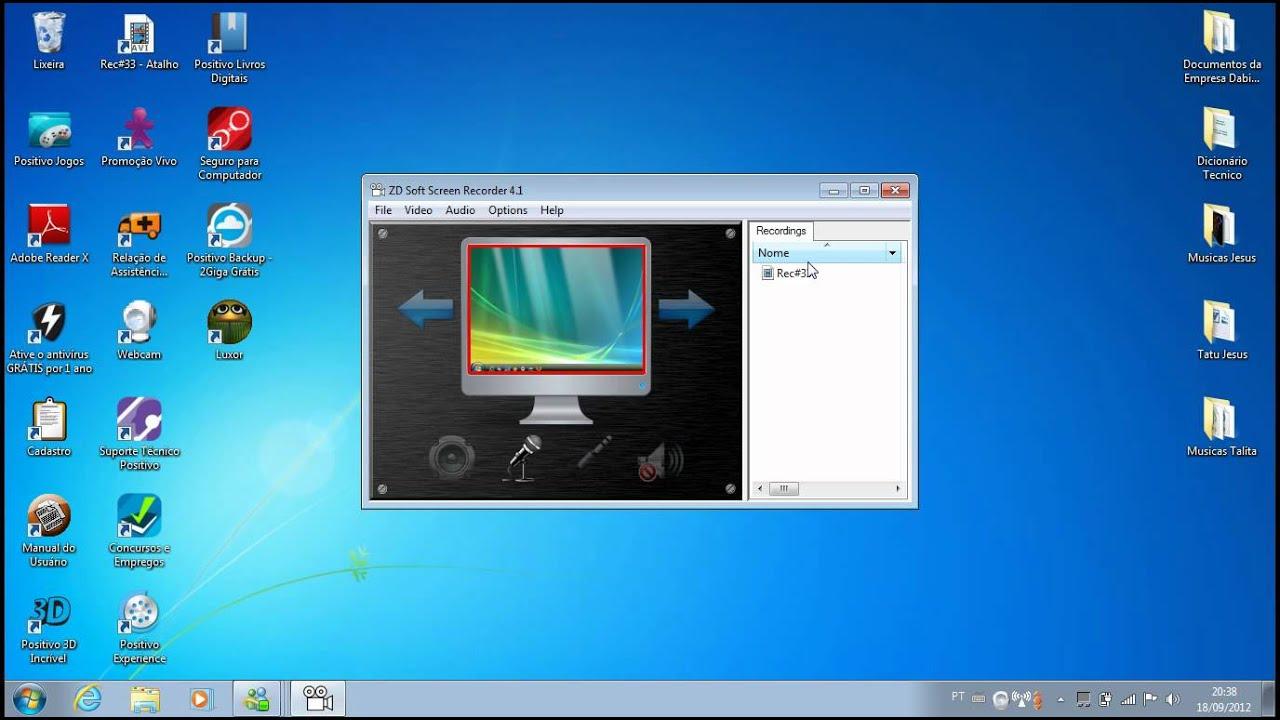Zd Soft Screen Recorder 4 1 3 0  Video Aula Como Baixar E