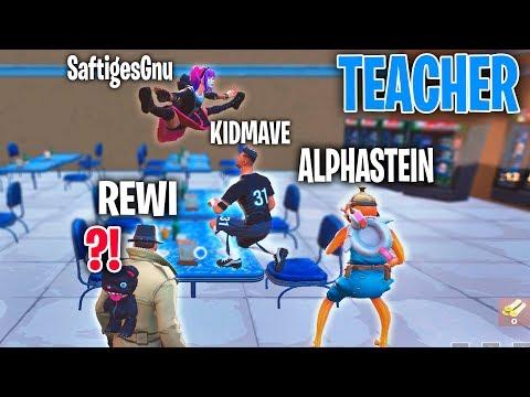 REWI ist der LEHRER von ALPHASTEIN und SAFTIGES GNU! - Fortnite Teacher