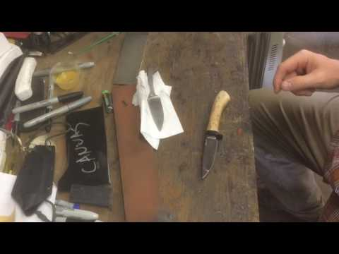 Cleaning a stained carbon steel knife.