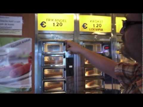 Fast Food Vending Machine in Holland