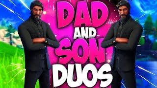 Dad And Son Duos In Fortnite Battle Royale (Dad Playing Fortnite With His Son) Episode 4