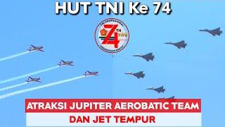 Download Atraksi Jupiter Aerobatic Team - Sukhoi 27 + 30MK - F 16 - Super Tocano HUT TNI Ke 74, 5 Oktober