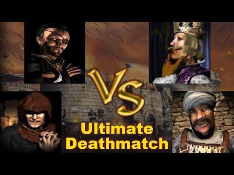 Abbot, Snake, Phillip, Sultan FFA - Ultimate Deathmatch | Stronghold Crusader AI-Battle