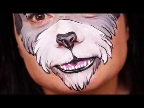 Face Painting a Schnauzer – Time Lapse