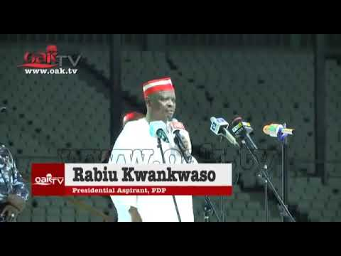 Download Full H.E Sen. Rabiu Musa Kwankwaso speech at PDP National Convention 2018