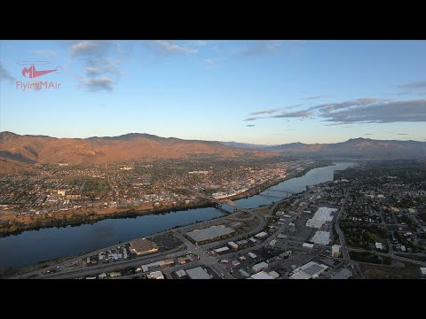 Helicopter Flight: Wenatchee At Dawn