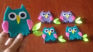 Amplop Lebaran || Cara Membuat Amplop Karakter Owl dari Kain Flanel