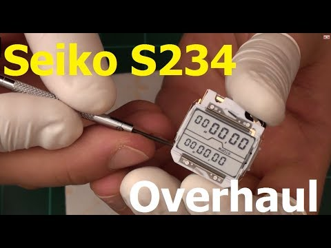 VintageDigitalWatches - Ep 16 - Seiko S234 LCD replacement and overhaul