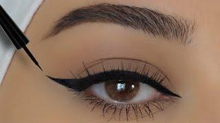 طريقة رسم الايلاينر للمبتدئات | eye liner tutorial for beginners