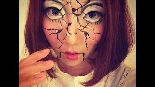 「西西」萬聖節派對 恐怖破碎陶瓷娃娃妝  微博:Pinky_Sisi Thumbnail