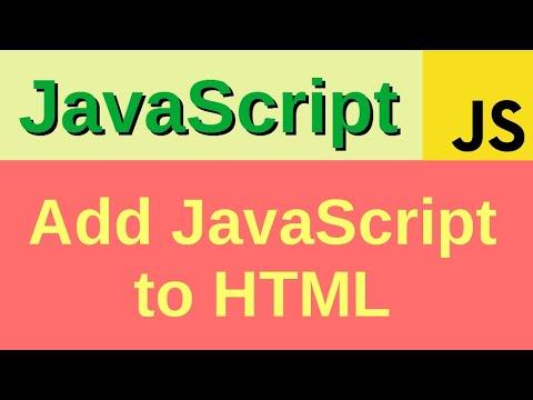 Add JavaScript to HTML in 3 ways - Basic JavaScript Fast
