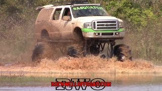 SWAMP SHOOTOUT FORD TRUCKS MUDDING!!!