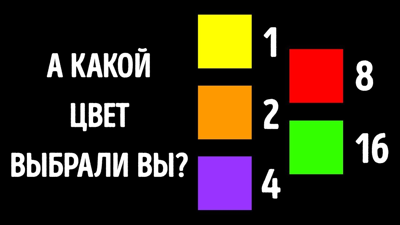 Цветной тест, который прочтет ваши мысли