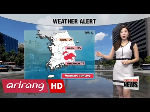 Heatwave advisory in Daegu and Gyeongsang-do Provinces, sunny skies, high UV rays