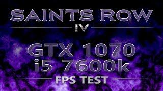 Saints Row IV Max Settings on GTX 1070, i5 7600k