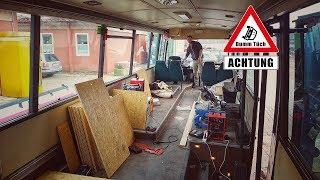 Bus wird zu Wohnzimmer Teil 1 - Boden verlegen | Dumm Tüch