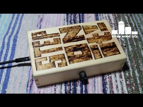 How to make a wooden stomp box with piezo pickup