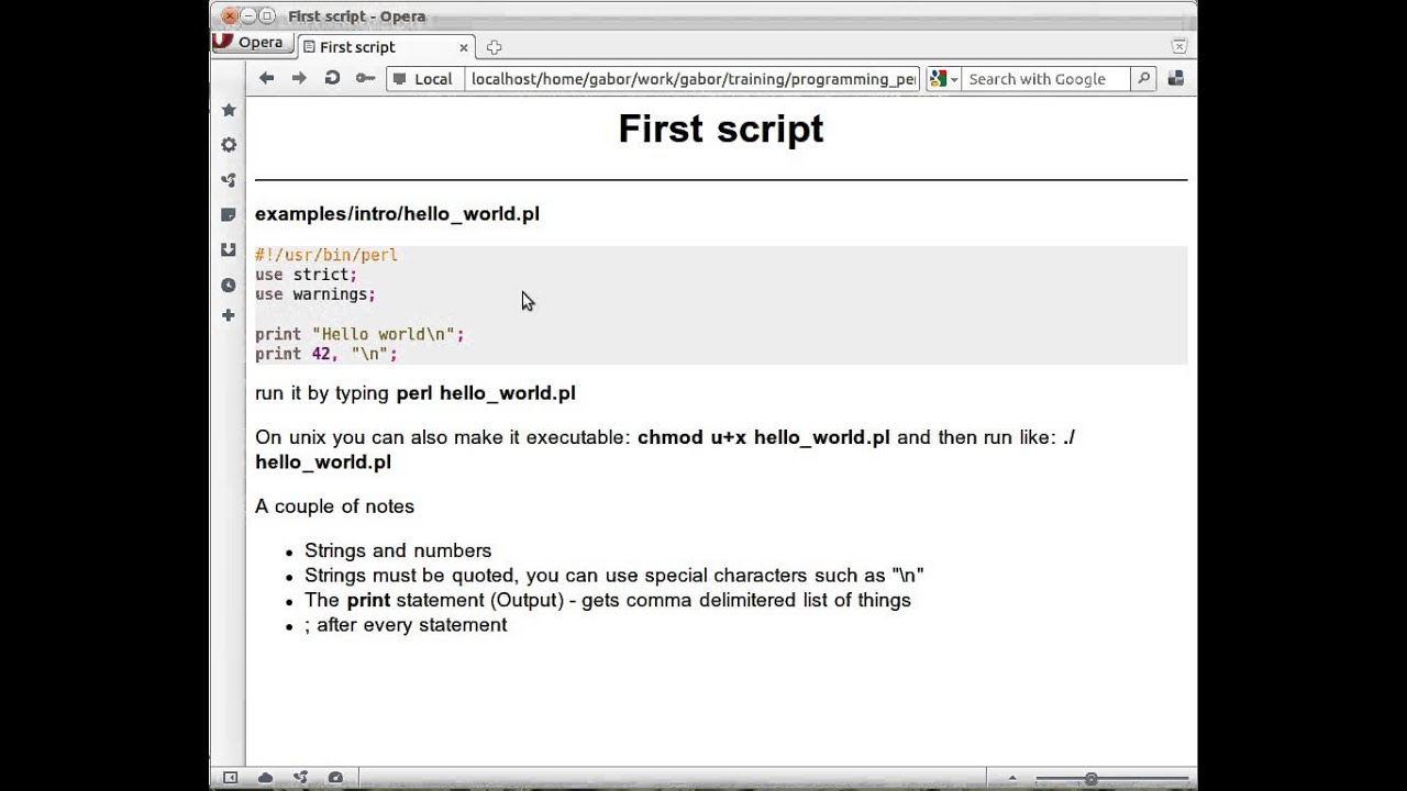 Your first script: Hello world - video