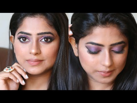affordable-purple-smokey-eye-makeup-tutorial-(hindi)-|-rashmi-ghag