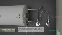 JAQUAR - Horizontal water heater ELENA  Installation