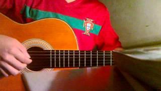 beautiful in white  guitar