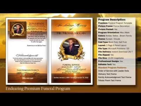 Free Funeral Program Template – Free Funeral Programs Downloads