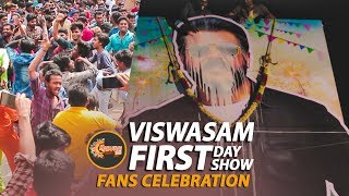 Viswasam FDFS Celebration at Theater | MADURAI Thala Fans Celebration | Madurai 360*