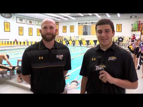 Towson Swimming Splits Meet with Conference Foe William & Mary Tribe