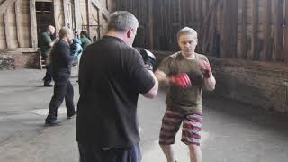 Parry and Catch / Padwork. English Martial Arts